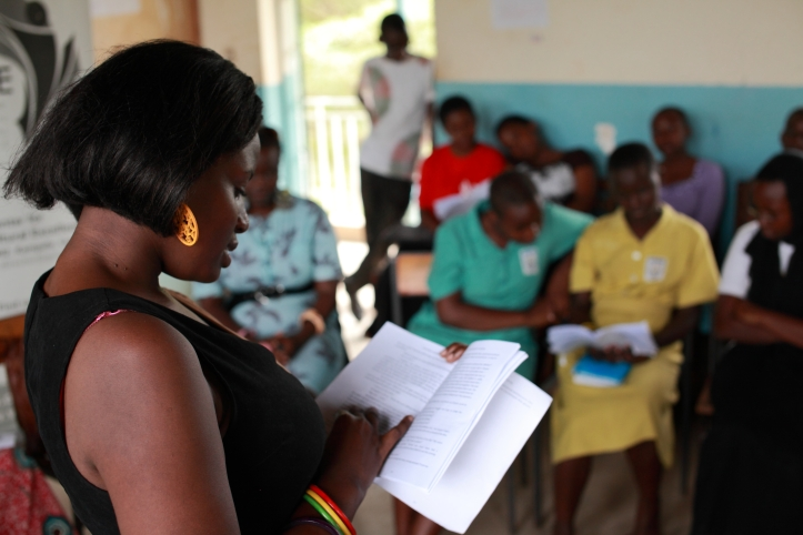 Writivism reading at Nabisunsa Girls SS in 2013