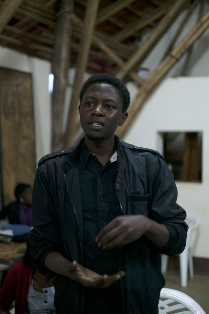 Kagayi Peter contributes to a discussion at #Writivism2013 festival