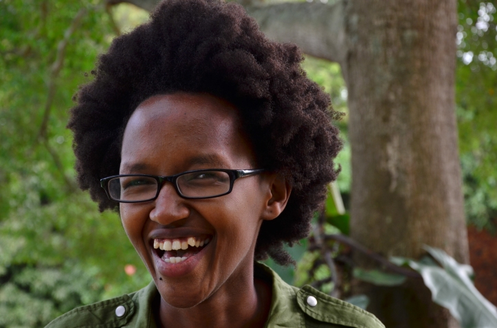 Rebecca Rwakabukoza, outgoing communications manager at the #Writivism2015 festival.