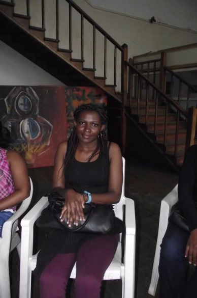 Anthea at the Writivism festival in 2013