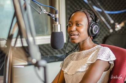 Esther Mirembe on air at Power FM